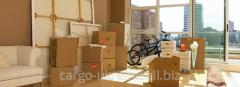 Международная перевозка личных вещей, перевозка по Украине