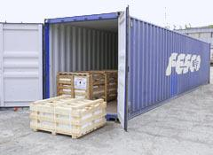 Container transportation of household things