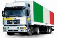 Автомобильные международные перевозки из Италии