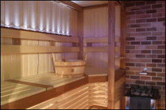 Construction of saunas on author's technology