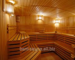 Installation of baths and saunas