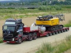 Transportation of construction equipmen
