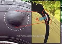 Ремонт бескамерных шин: удаление грыж, шишек, гуль на шине