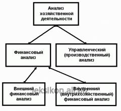 Internal (intraeconomic) financial analysis