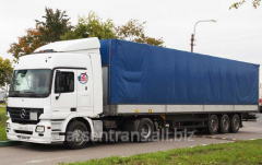 International cargo delivery by tentovanny cars