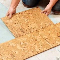 Laying of a pith floor
