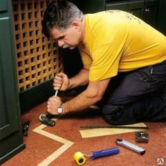 Service in linoleum laying