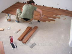 Service in laying of a laminate