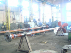 Production of rowing and intermediate shaft