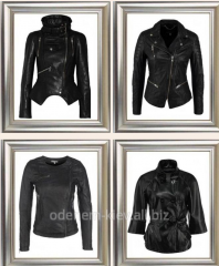 Tailoring of a leather jacket under the order