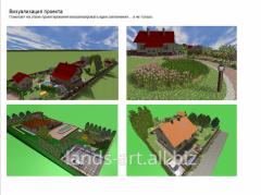Design, improvement and gardening of seasonal