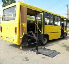 Переоборудование автобусов Эталон для перевозки людей с ограниченными возможностями