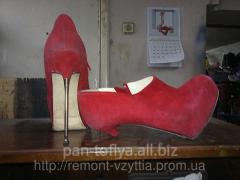 Replacement of heels of footwear, Kiev