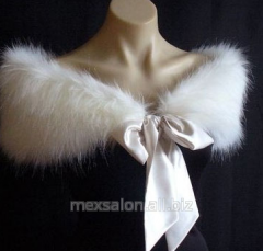 Tailoring of a throat-wrap from fur