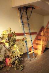 Изготовление чердачных складных лестниц для установки в потолочных проемах.  стандартных размеров и по индивидуальным размерам заказчика