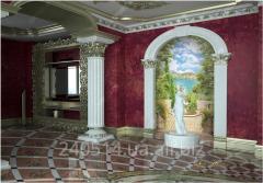 Installation of frescos on a flizelinovy basis