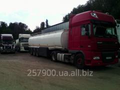 Transportation of ammoniac water, service in