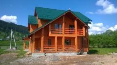 Будівництво дерев'яних будинків, котеджів, бань, дач.