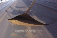 Repair of conveyer belts - stratification of a joint of the conveyer bel