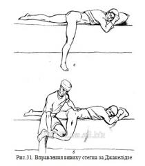 Переломы и вывихи костей нижней конечности