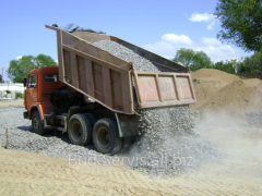 Delivery of crushed stone, expanded clay