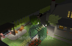 Design, device of illumination of a garden