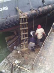 Ремонт судов в порту