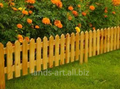 Production and installation of wooden fences,