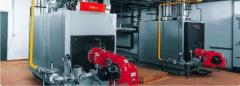Mounting kotelen that boiler equipmen