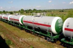 Rent of railway tanks for gasoline transportation