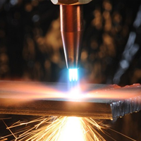 Gas cutting of metals of metal rolling from