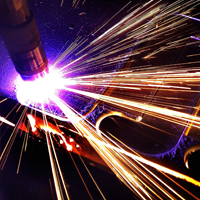 Plasma cutting of metal rolling from ESB-group