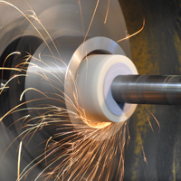 Flat and circular grinding works on metal from