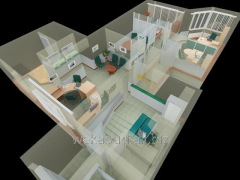 3D design of office