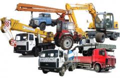 Services in rent of equipmen