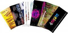 Press of leaflets