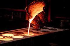 Molding of steel, cast iron, aluminum, bronze,