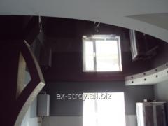 Работы ремонтные, установка  натяжных потолков