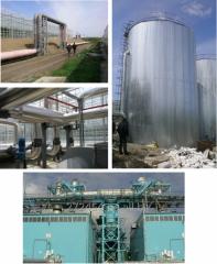 Теплоизоляция трубопроводов, емкостей колон.