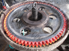 Heat treatment of shaft, gear wheels