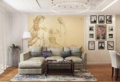 Interior design of the apartment, state muddy