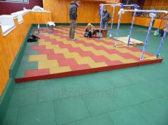 Изготовление универсальной резиновой плитки