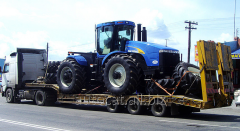 Transportations of tractors from Belarus, Russia,