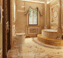 Marble laying for interior and bathrooms