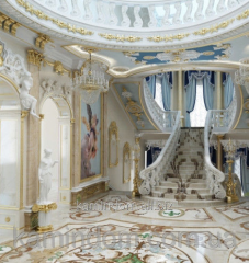 Finishing of interior marble