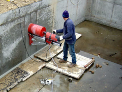 Diamond drilling (drilling) in steel concrete,