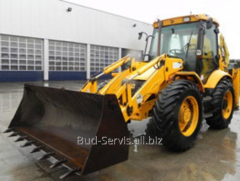 Rent of excavators: JCB JS160W wheeled excavator,