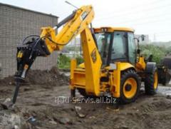 Rental of construction equipment: backhoe loader;