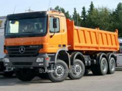 Lease of dump trucks FOTON, MAZ, Mercedes Actros,