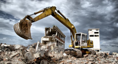Dismantle of buildings, services of special